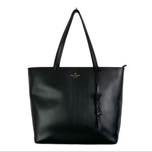 KATE SPADE Smooth Leather Tote Black